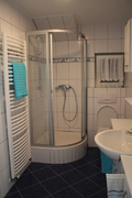 Badezimmer, Dusche, Ferienwohnung Bad Ausstattung