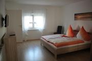 Doppelzimmer, Schlafzimmer Ferienwohnung, Steinkirchner Unterkunft Straubing